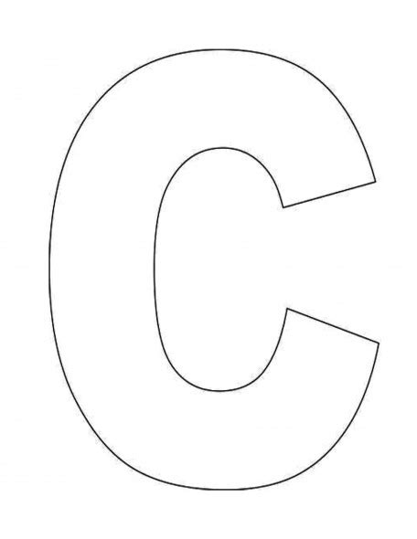 C Template Alphabet Letter C Template For Abc Crafts