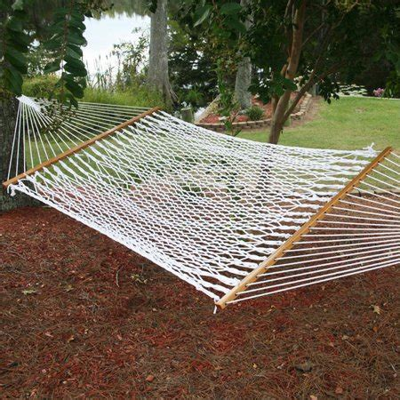 deluxe cotton rope hammock double outdoor patio walmartcom