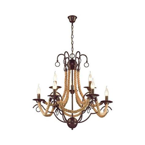Bright Chandelier by Chandeliers Bright Metal Chandelier With Rope For