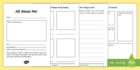 All About Me Ks1 To Ks2 Transition Booklet  Moving Up, New
