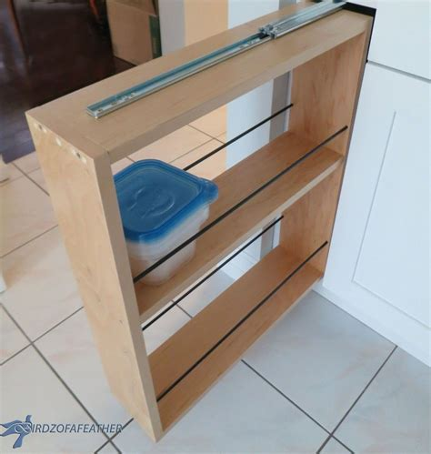 convert kitchen cabinet to pull out kitchen storage turn a filler panel into a pull