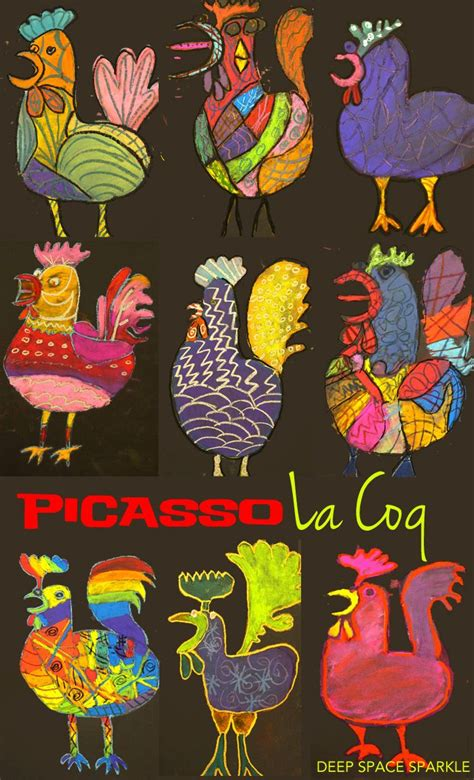Picasso's Le Coq Pastel Project  Easy Art, Chalk Pastels And Art Activities