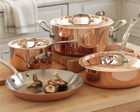 mauviel cuisine mauviel m150s copper 7 set williams sonoma