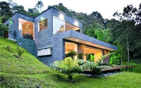 house plans on sloped land image of modern hillside house