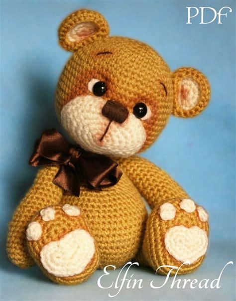 teddy patterns elfin thread teddy bear amigurumi pdf pattern teddy bear crochet pdf pattern amigurumi and