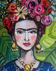 Frida Kahlo Kunstwerk : frida kahlo painting canvas large by devinepaintings on etsy stylized frida abstract devine ~ Markanthonyermac.com Haus und Dekorationen
