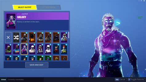 the galaxy skin for fortnite is trippy and only for the elite