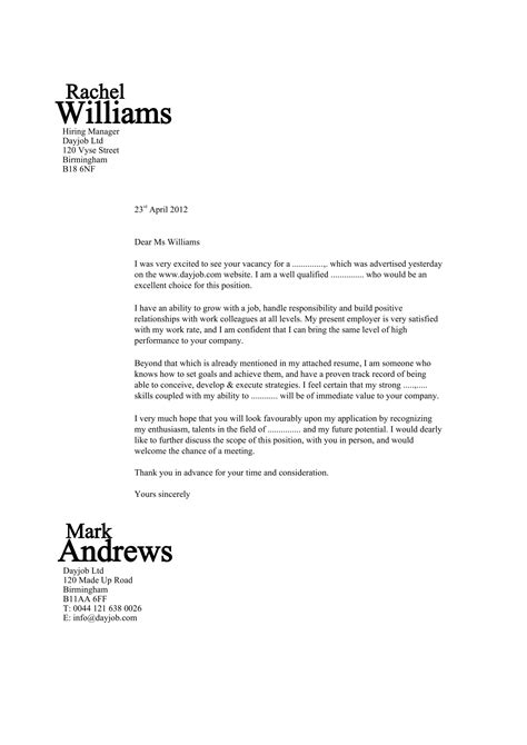 sample cover letter examples  job applicants