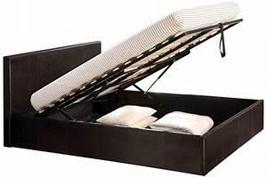 Coffre Lit 160x200 : lit coffre 160x200 chocolat avec sommier lit design pas cher ~ Teatrodelosmanantiales.com Idées de Décoration