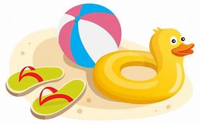 Clipart Swim Ring Duck Ball Swimming Beach