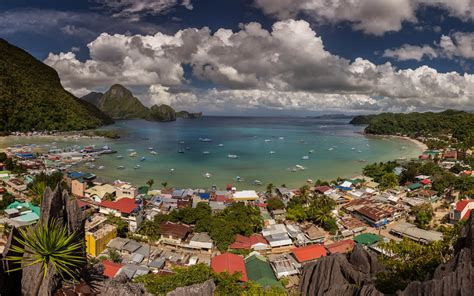 el nido bay  town palawan philippines  ultra hd