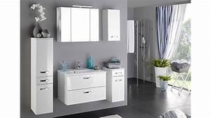 Badezimmer Möbel Set Angebot : badezimmer set 1 bologna wei hochglanz inkl beleuchtung ~ Bigdaddyawards.com Haus und Dekorationen