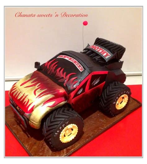monster truck cake cake  chanatasweets cakesdecor