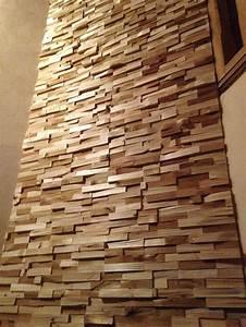 crochere mur bois aspect brut en sapin naturel et chauffe With mur en bois decoratif