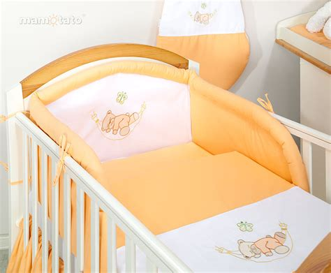 linge de marque pour bebe parure de lit b 233 b 233 brod 233 e orange 14ps linge de lit pour b 233 b 233 140 70cm 120 60cm ebay
