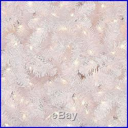 holiday time pre lit 65 madison pine white artificial christmas tree clear lights pine pre lit white artificial