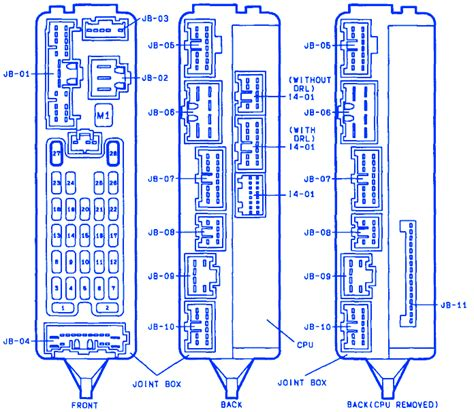 Mazda Joint Fuse Box Block Circuit Breaker