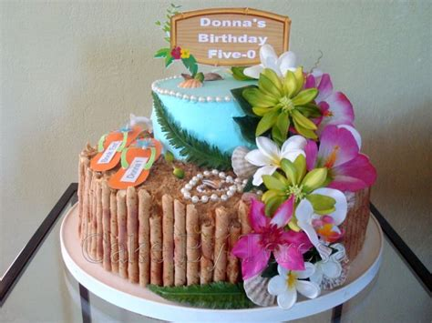 Best Images About Hawaiian Birthday Cake Ideas On