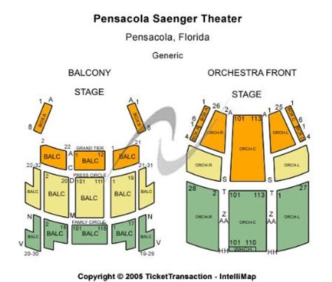 Saenger Theatre Tickets and Saenger Theatre Seating Chart ...