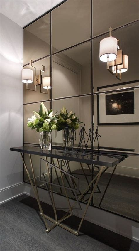 mirror walls toronto and contemporary console tables on