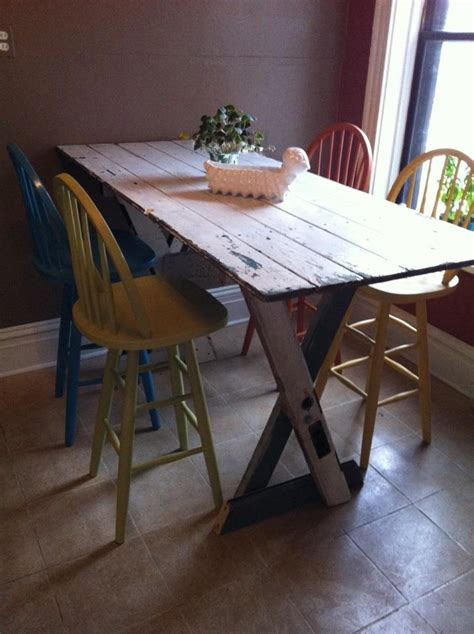 kitchen table bar height    doors diy