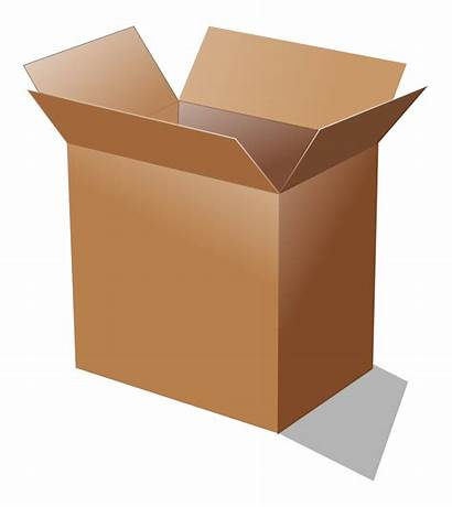 Cardboard Open Clip Boxes Svg Recycling