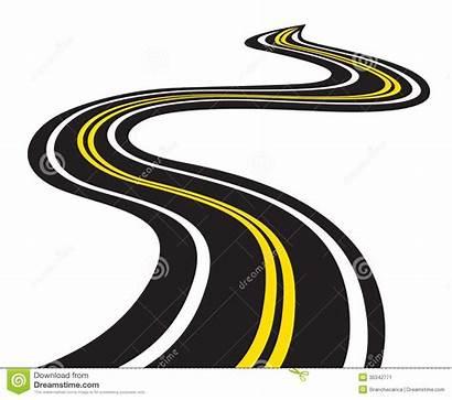 Road Winding Clipart River Vector Illustration Clip
