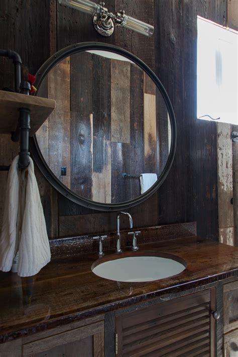 Bathroom Light Wood Rustic Bathroom Mirror Frame On The