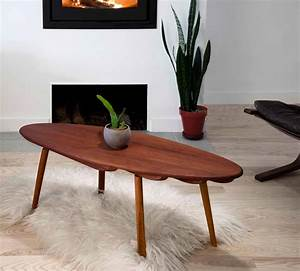 Contemporary skip solid cherry wood coffee cocktail table for Modern cherry coffee table