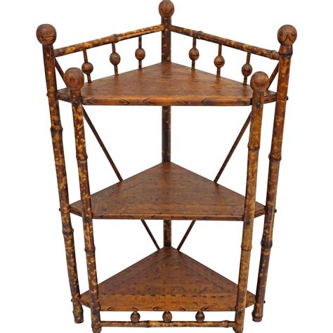 colonial style stick and corner etagere