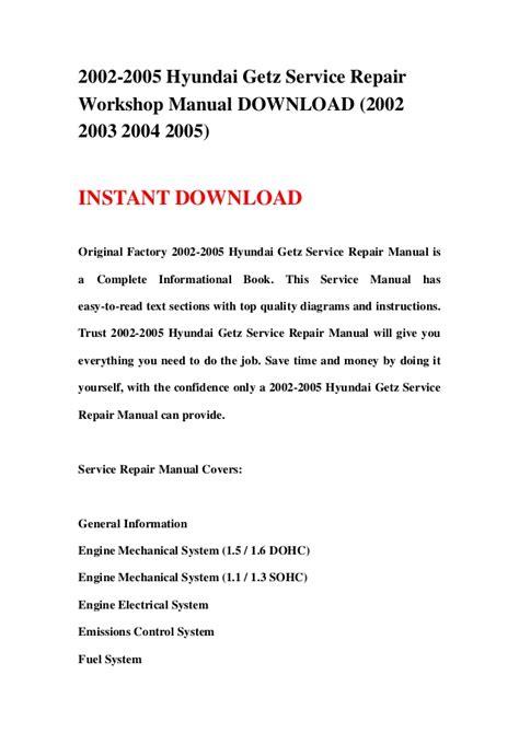 free online car repair manuals download 1994 hyundai scoupe regenerative braking 2002 2005 hyundai getz service repair workshop manual download 2002