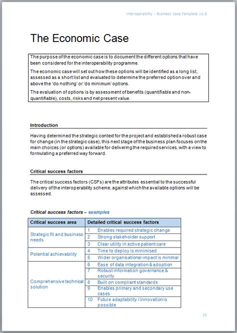 interoperability business case template interopen