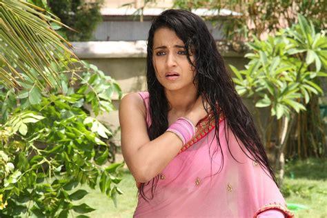 Actress Trisha Krishnan Wet Hot Ultra Photos Pink