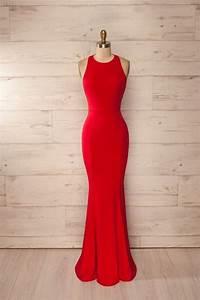 New Mermaid Red Prom Dress,Elegant Prom Dress,Long Prom