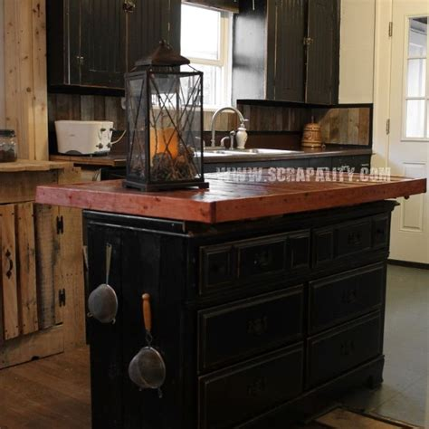 reclaimed dresser  kitchen island  pallet