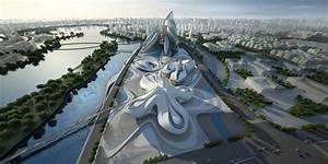 Zaha Hadid Architektur : zaha hadid changsha meixihu international culture and art center ~ Frokenaadalensverden.com Haus und Dekorationen
