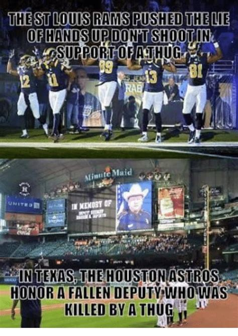 Houston Astros Memes - the st louis rams pushed the lie of hands updontshootin surportofiathug minute maid nekort of in