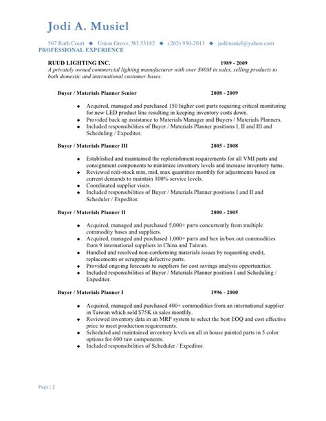 Material Manager Resume by Materials Manager Resume