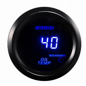 Hotsystem Black 2 U0026quot  52mm Digital Led Oil Temp Temperature