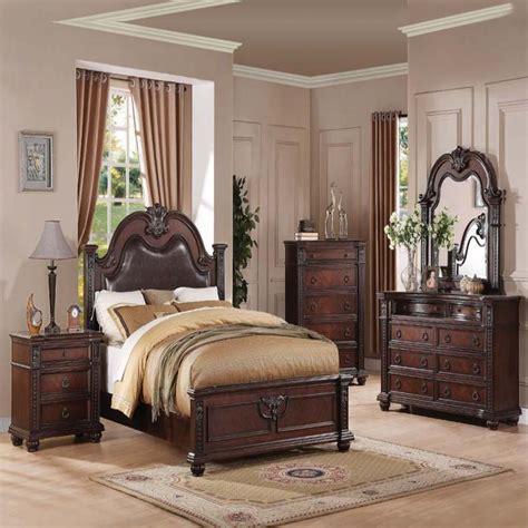 vintage bed set formal luxury antique daruka cherry size 4