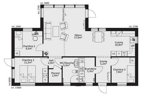 maison 5 chambres best plan maison plan de maison plain pied ossature bois