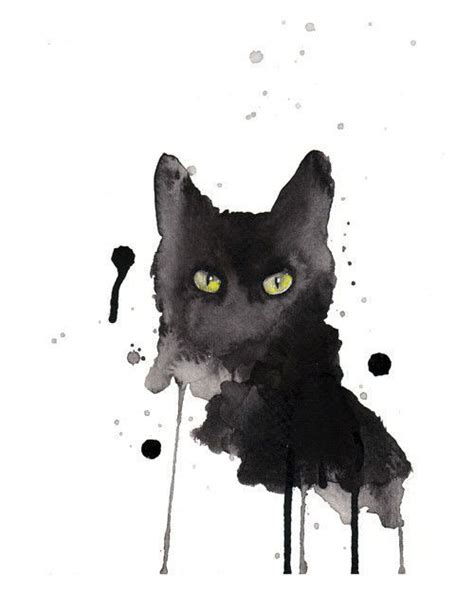 Abstract Black Cat Watercolor by 32 Best Images About Cats On Cats Swim And