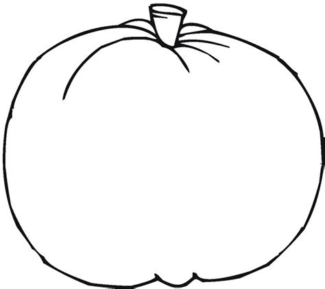 blank pumpkin template coloring home