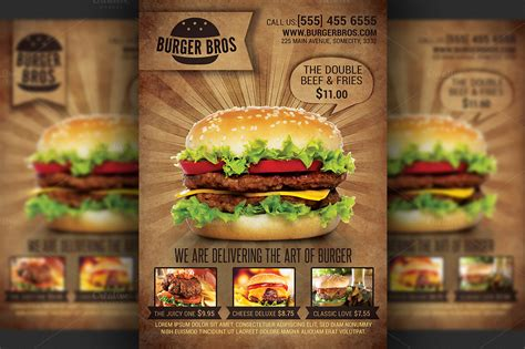 cuisine promotion burger promotion flyer template flyer templates on