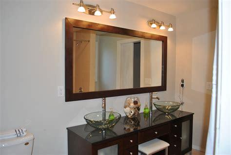 mirror ideas for bathrooms diy bathroom mirror frame ideas images