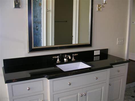 granite bathroom vanity in absolute black with polished