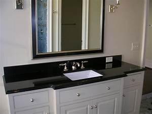 Granite bathroom vanity in absolute black with polished for White bathroom vanity with black countertop