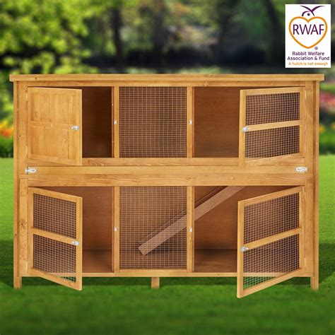 6ft rabbit hutches home and roost 6ft chartwell luxury rabbit hutch