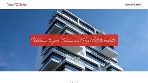 commercial real estate website templates exle 12 commercial real estate website template godaddy