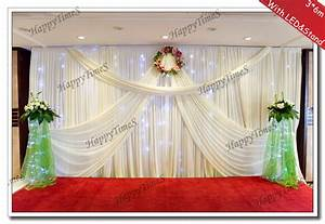 Wedding Background Decoration Curtain Backdrop Drapes With